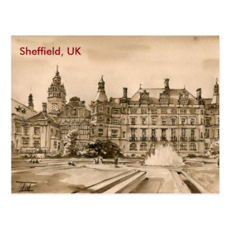 Postcard - Watercolour - Sheffield, UK