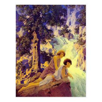 Postcard:  Waterfall - Maxfield Parrish Postcard