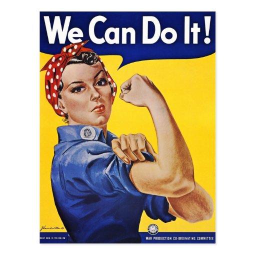 Postcard: We Can Do It  - Vintage Poster Image