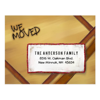 Postcard - We Moved - Boxed Up