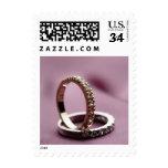 Postcard Wedding Ring Arrangement Postage Stamp