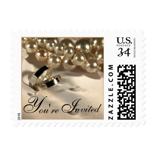 Postcard Wedding Ring Pillow And Pearls Postage St