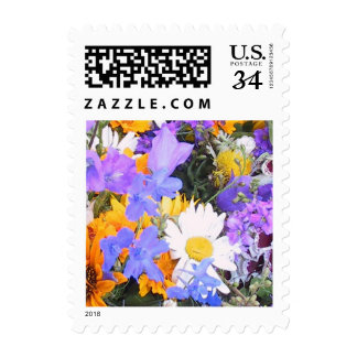 Postcard Wedding Wildflowers Invite RSVP Save Date Postage