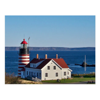 Postcard West Quoddy Head in Lubec, Maine the USA