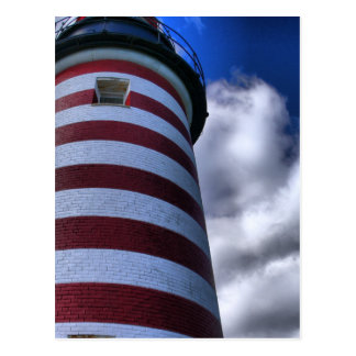 Postcard-West Quoddy Head Lighthouse Maine