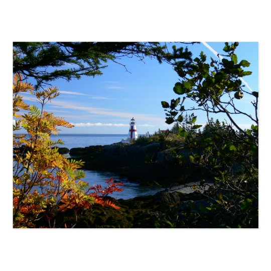 Postcard West Quoddy Lighthouse Canada