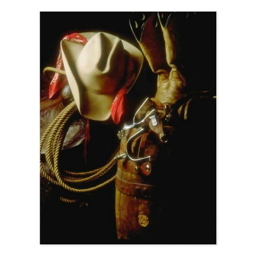 POSTCARD ~ WESTERN GEAR TACK BOOTS HATS STORE SHOP