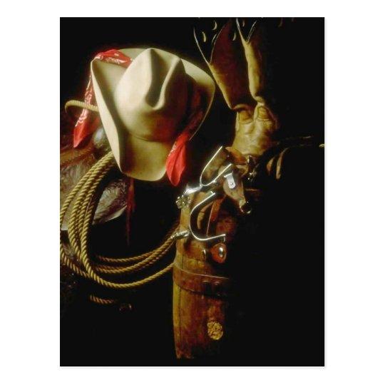 POSTCARD ~ WESTERN GEAR TACK BOOTS HATS STORE SHOP