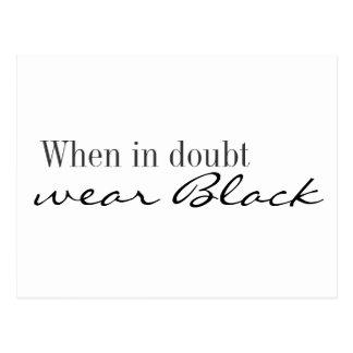 Postcard - When in doubt wear black
