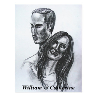 Postcard William & Catherine Wedding