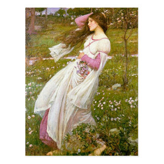 Postcard: Windflowers -  John Waterhouse Postcard