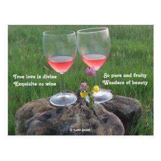 Postcard Wine Poem By Ladee Basset