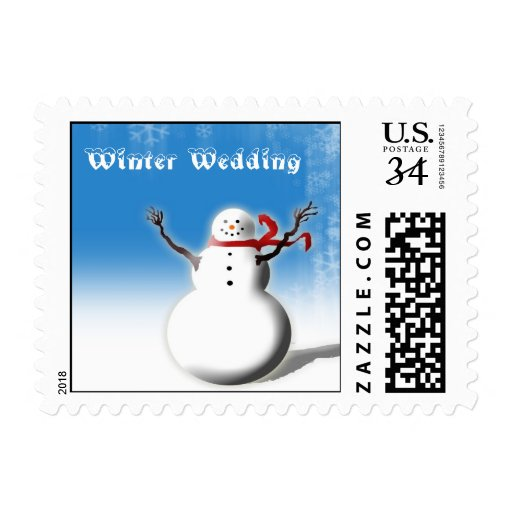 Postcard Winter Save The Dates Postage Stamps