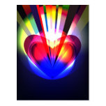 Postcard with  abstract heart