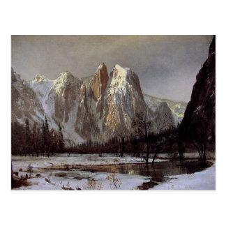 Postcard With Albert Bierstadt Painting