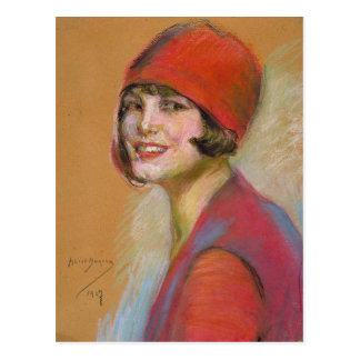 Postcard With Alice Pike Barney Painting