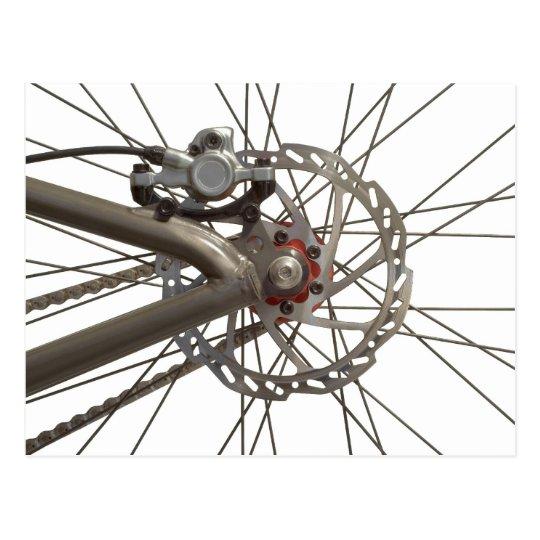 Postcard with Bike Wheel Hub