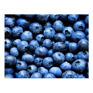 Postcard with blueberries