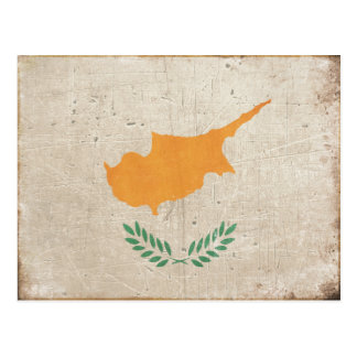 Postcard with Cool Cyprus Flag Print