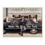 Postcard with Cool Vintage Cop Illustration