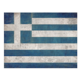 Postcard with Dirty Flag from Greece