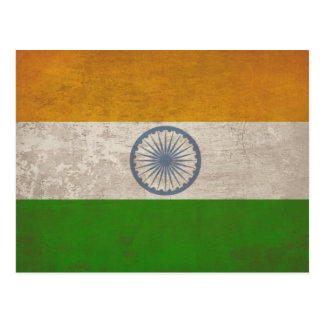 Postcard with Dirty Flag from India