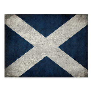 Postcard with Dirty Scottish Flag