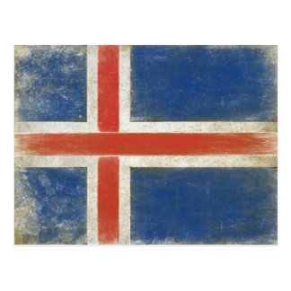 Postcard with Distressed Flag from Iceland