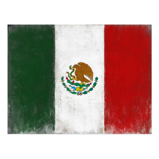Postcard with Distressed Flag from Mexico