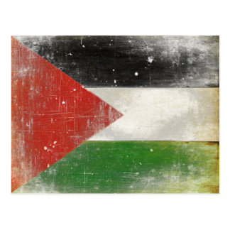 Postcard with Distressed Flag from Palestine