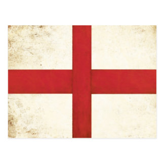 Postcard with English Flag in Dirty Old Style