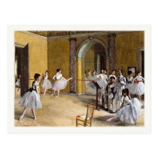 Postcard With Famous Ballet Painting