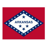 Postcard with Flag of Arkansas State - USA