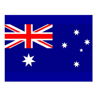 Postcard with Flag of Australia