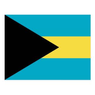 Postcard with Flag of Bahamas
