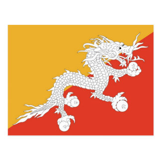 Postcard with Flag of Bhutan