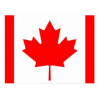 Postcard with Flag of Canada