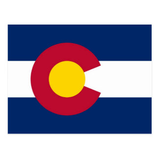 Postcard with Flag of Colorado State - USA