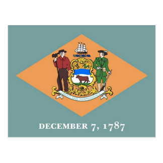 Postcard with Flag of Delaware State - USA