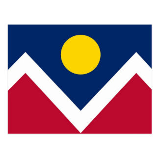Postcard with Flag of Denver, Colorado State - USA