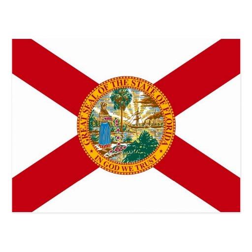 Postcard with Flag of Florida State - USA