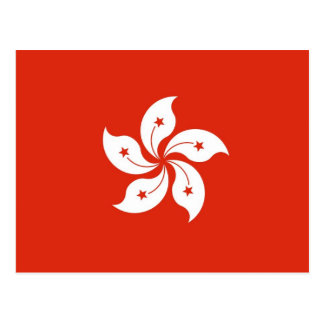 Postcard with Flag of Hong Kong, China