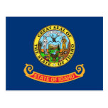 Postcard with Flag of Idaho State - USA