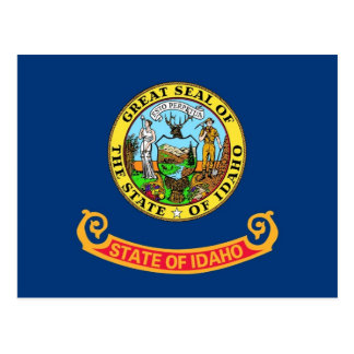 Postcard with Flag of Idaho State - USA