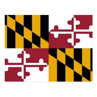 Postcard with Flag of Maryland State - USA