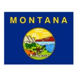 Postcard with Flag of Montana State - USA