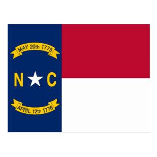 Postcard with Flag of North Carolina State - USA