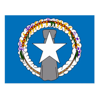 Postcard with Flag of Northern Mariana Islands