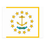 Postcard with Flag of Rhode Island State - USA