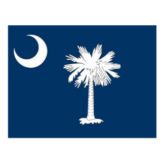 Postcard with Flag of South Carolina State - USA